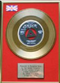 "EDDIE COCHRAN - 24 Carat Gold 7"" Disc- C'MON  EVERYBODY"